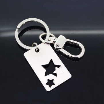 Cut Out Shape Metal Keychain