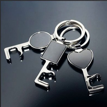 Key Shape Metal Keychain