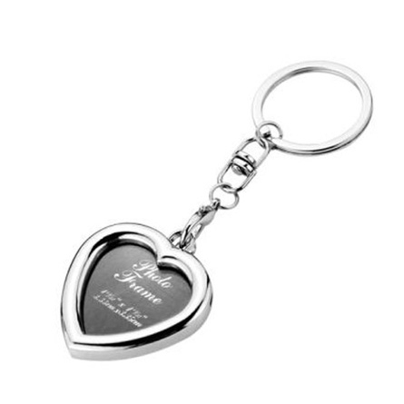 Heart Shape Photoframe Metal Keychain