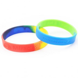 Segmented Silicone Wristband Debossed