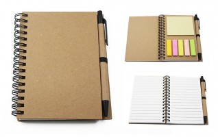 NB00104 / NB02 Eco Notebook With Sticky Note