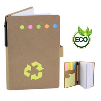 NB0000942 Eco Notebook Set With Sticky Note And Pen