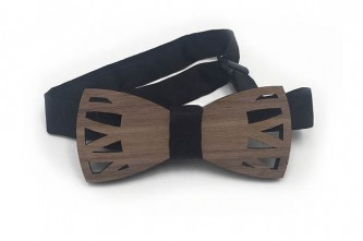 Toro Walnut Wooden Bow Tie