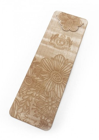 4 Seasons Wooden Bookmark