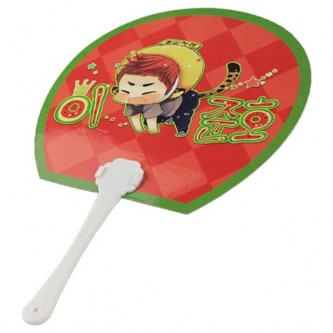 HP0118-CD Paper Hand Fan Full Colour 2 Side Printing