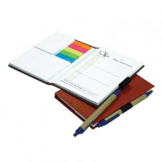 Hard Cover notebook with sticky pad