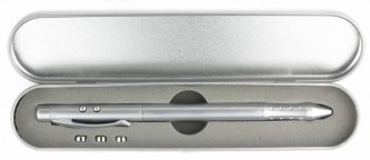 WIF00012 4 in 1 Classic Metal Laser Pointer Pen With Metal Box