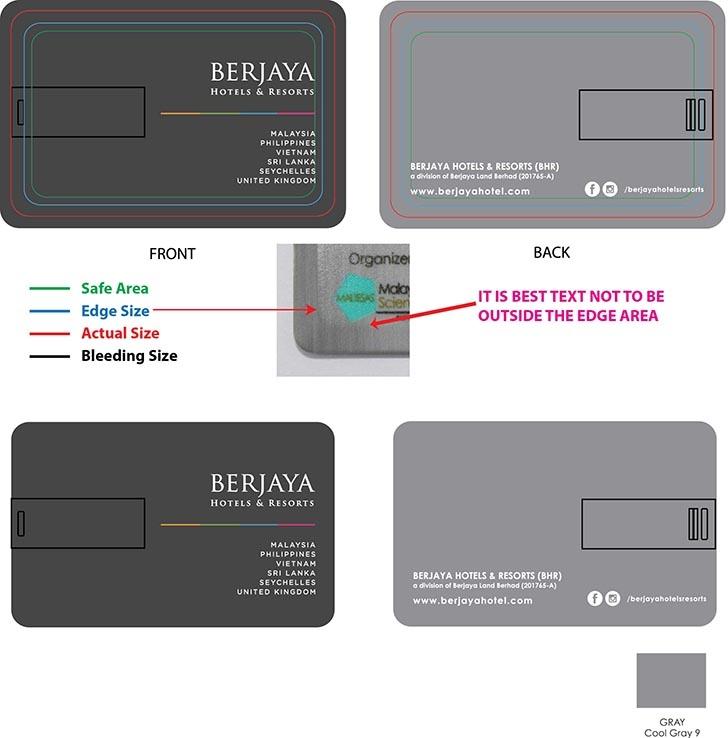 Credit Card USB Flash Drive Artwork