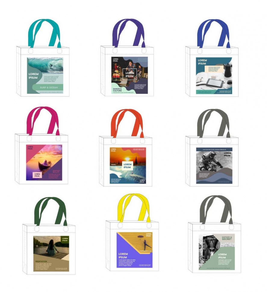 FREE TEMPLATE artwork for sublimation non-woven bag