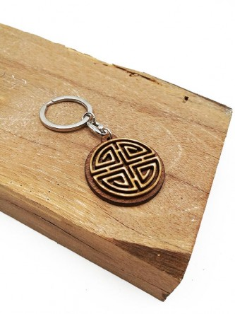 Wooden Keychain Design of Luck 福
