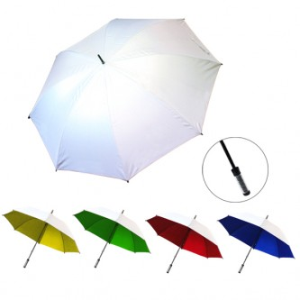 "UML0174142M 30"" Manual Silver Coated Umbrella"