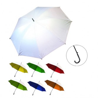 "UML0173842A 24"" Auto Silver Coated Umbrella"