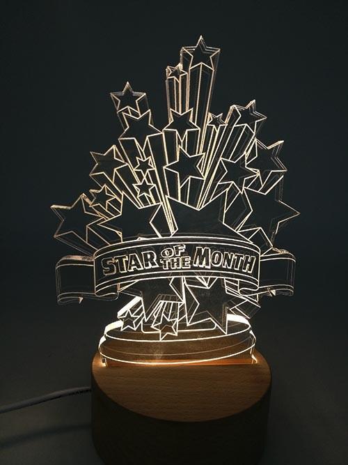 2D Star Awards Led Light EG17001
