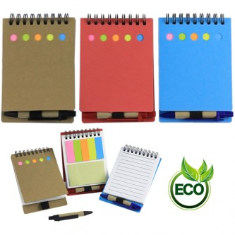 NB0000542 Eco Notebook Set With Sticky Note And Pen