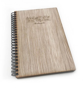 Bunga Raya Grains Wooden Notebook