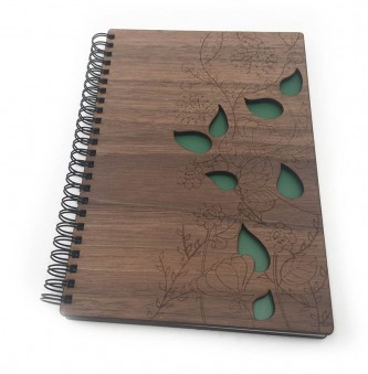 Walnut A5 Wooden Notebook