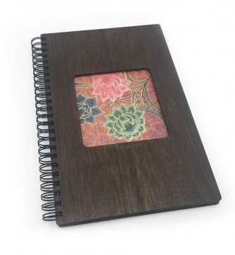 Batik A5 Stain Colour Wooden Notebook