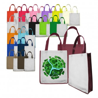 NW173948NH Custom Ultrasonic Non Woven Bag (A4) Inclusive Full Colour Printing 1 Side 33cm(H) x 28cm(L) x 8cm(W)