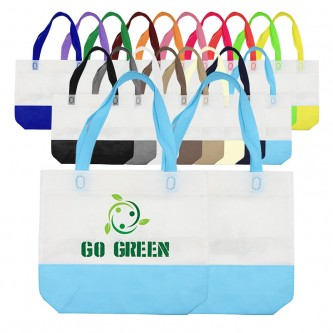 NW174248NH Custom 2-Tone Ultrasonic Non Woven Bag (A4)