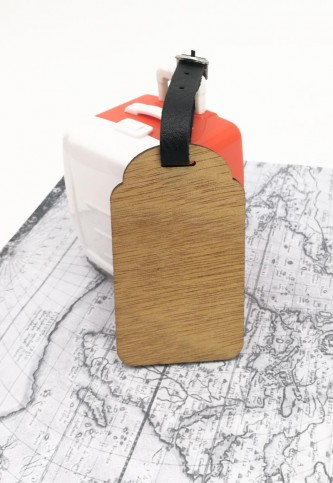 Wooden Luggage Bag Tag