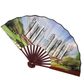 HP0900-WD Wood Paper Hand Fan