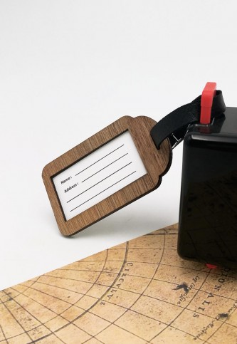 Wooden Luggage Bag Tag  1
