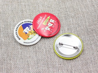 BB100218 40mm Button Badges Gloss Lamination