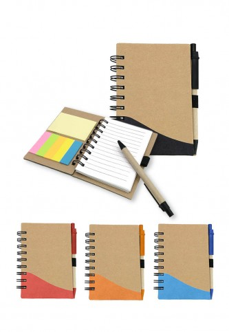 NB704511 Eco Notebook with pen & restick pad