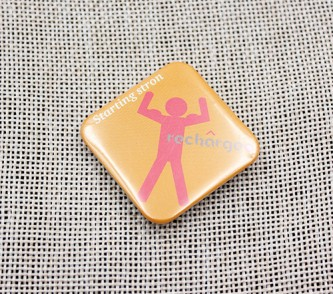 BB100918 Square Button Badges Gloss Lamination