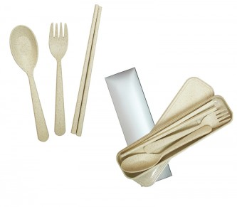 HH171014 ECO WHEAT CUTLERY SET