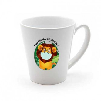 Cone Shape Printing Mug with Transparent Sublimation Printing HHMG00004FS