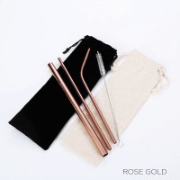 Pre-order Rose Gold Straws Set HH181202-RG