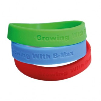 Plain Silicone Wristband Debossed