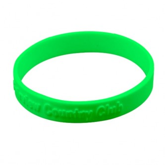 Plain Silicone Wristband Embossed
