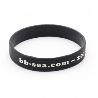 Plain Silicone Wristband Debossed  with Ink Filled
